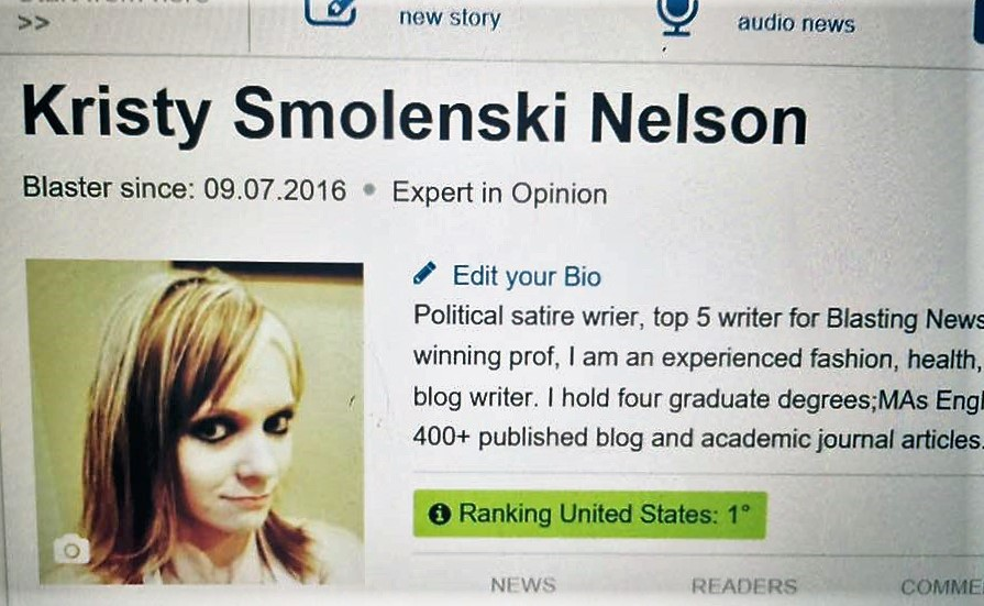 My Political Satire Got Me To The Top: Ranked #1 US writer at Blasting News